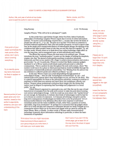 examples of article summaries