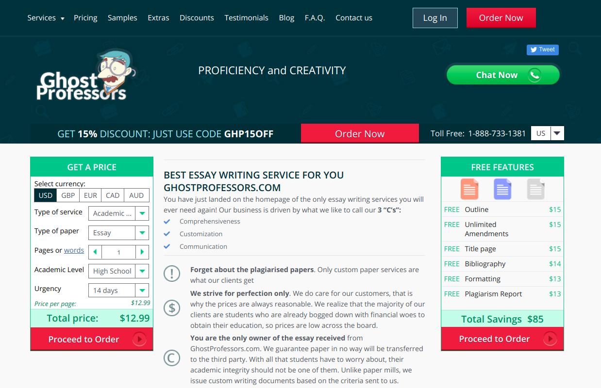 ghostprofessors.com editing service