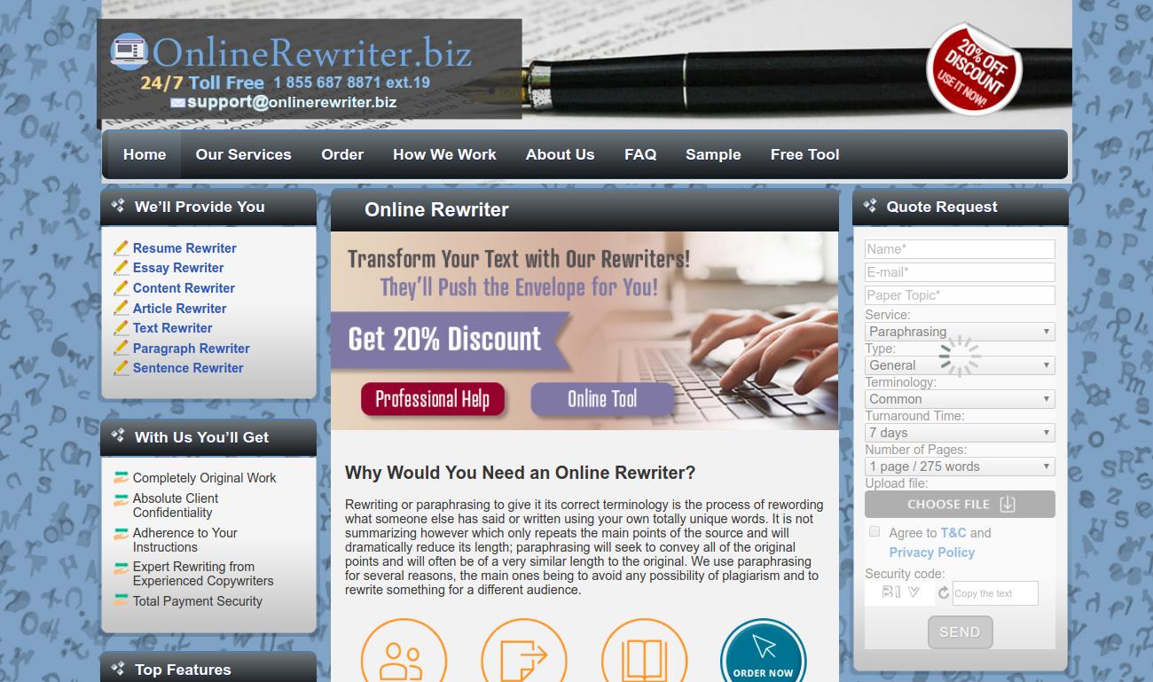onlinerewriter.biz online rewriter service