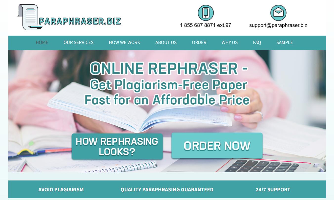 paraphraser.biz paraphraser online
