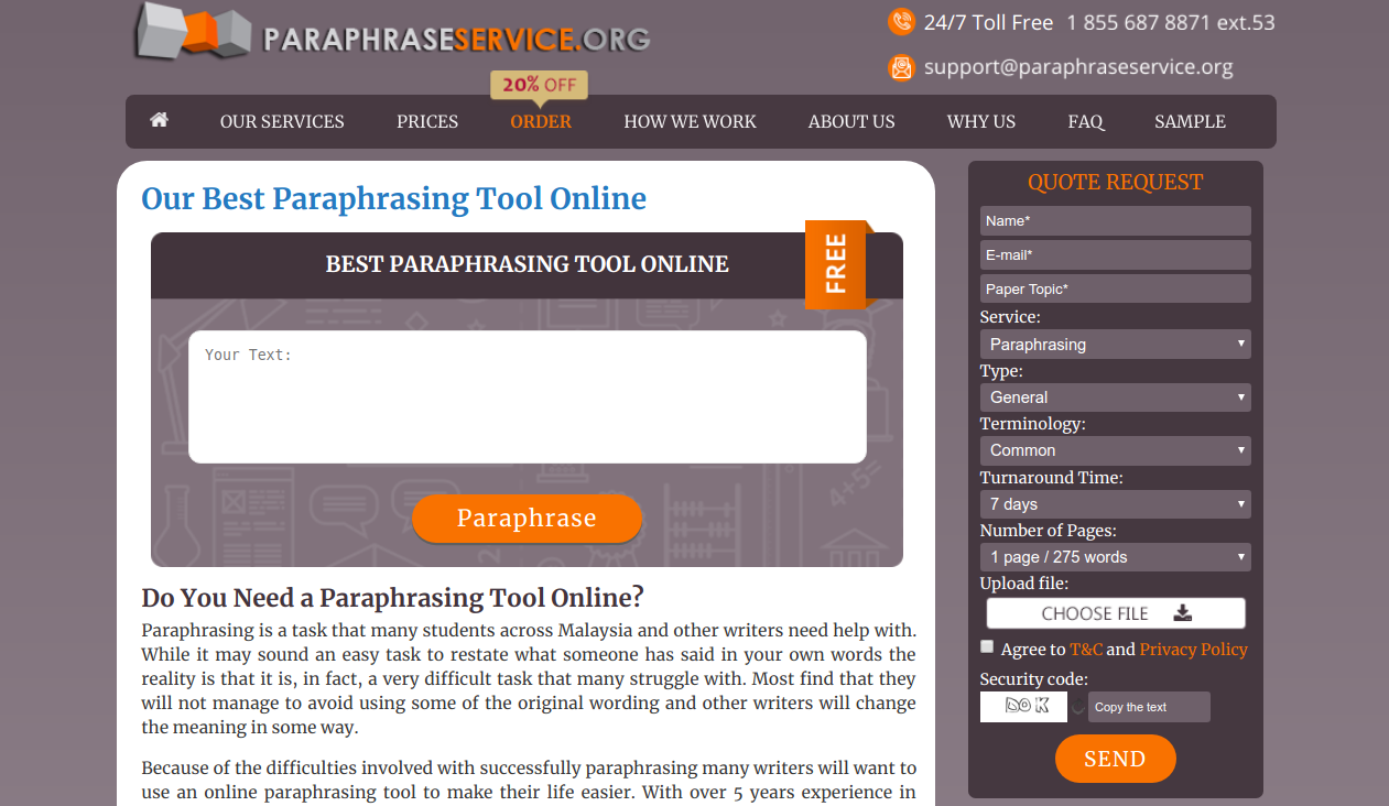 paraphraseservice.org paraphrase tool