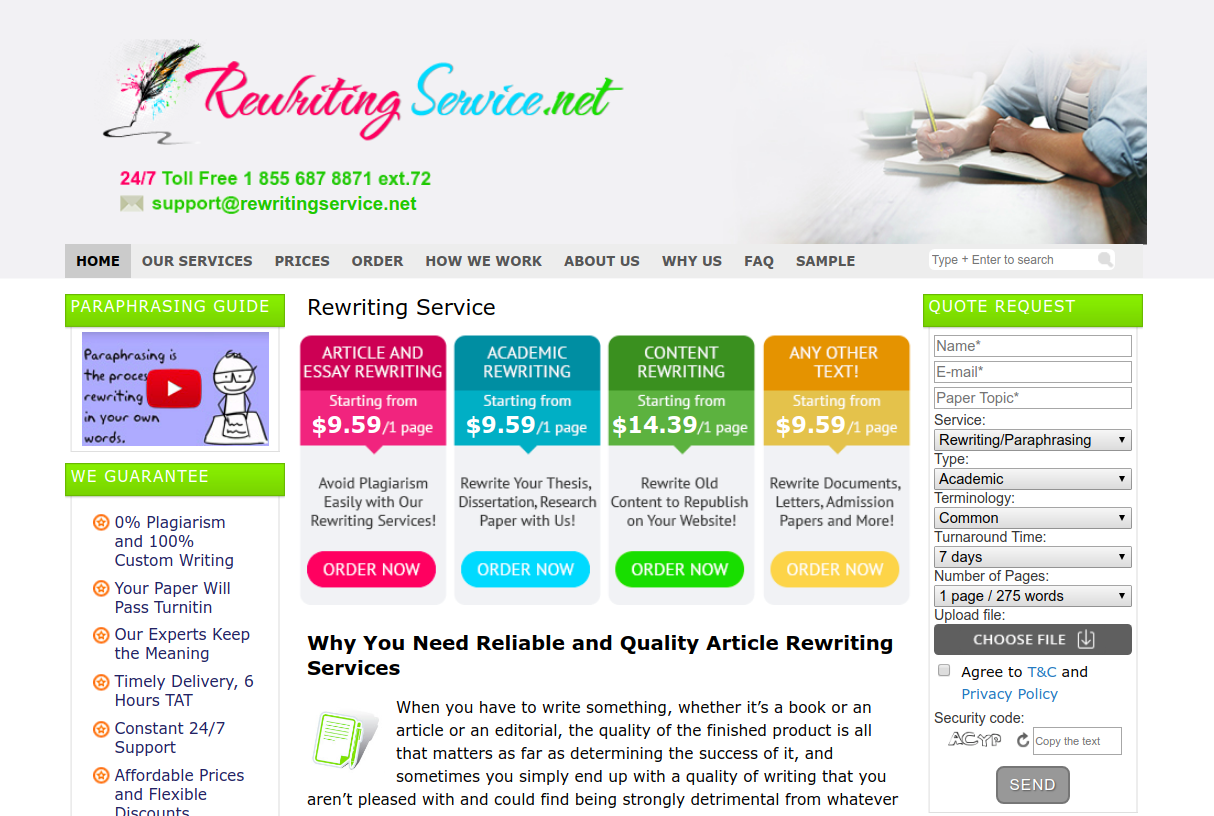 rewritingservice.net rewriting service